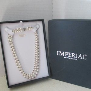 """Imperial Pearls 3 Strand Freshwater Necklace 20"""""""